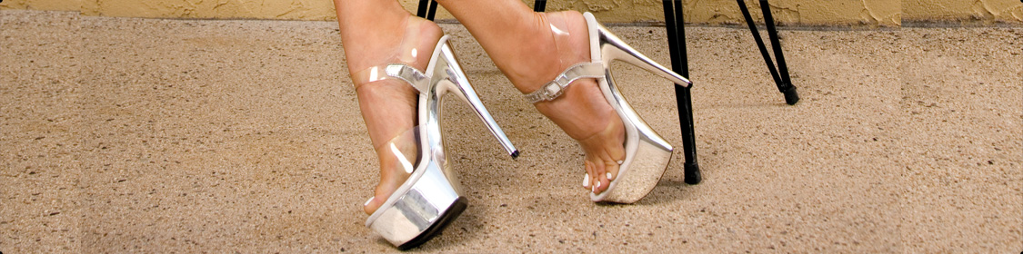 Shoes Stiletto High Heels Clear Platforms Stripper Sandals Pumps
