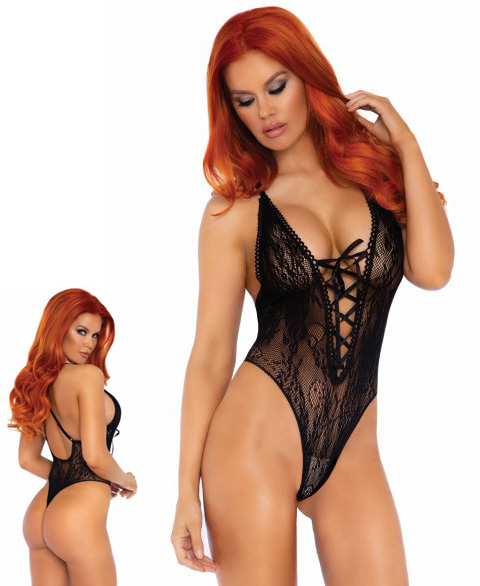 89248 Leg Avenue lace thong teddy