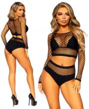 81566 Leg Avenue Industrial Net top high waist