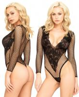 89192 Leg Avenue Deep-V floral lace teddy