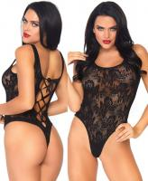 89217 Leg Avenue lace thong teddy lace up