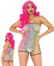 89249 Leg Avenue Lurex rainbow net