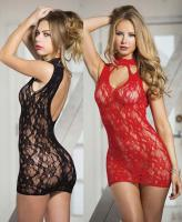 90393 Shirley Of Hollywood, Stretch lace chemise with stretch lace